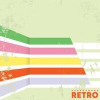 Retro Design Hintergrund mit Vintage Grunge Textur und Linien. Vektorillustration vektor