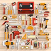 Vektor-Illustration Element Werkzeuge Hardware vektor