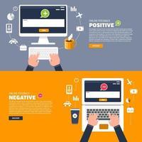 Illustrationen zur Feedback-Kommunikation vektor