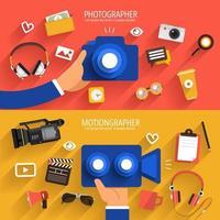 Foto- und Videoabbildungen für digitales Marketing vektor