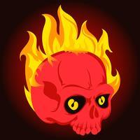 Flammande skalle illustration vektor