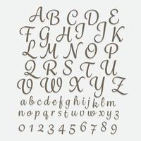 Alphabet Handschrift az vektor