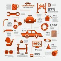 Autoservice Infografik vektor