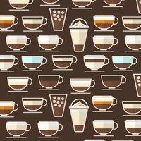 Kaffeetyp Hintergrund vektor