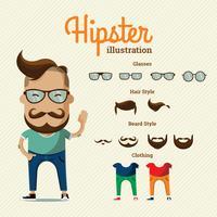 Hipster-Elemente vektor