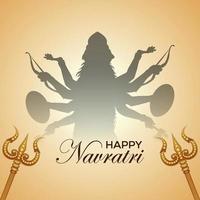 navratri indisk festival gratulationskort och bakgrund vektor