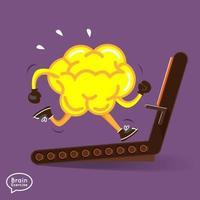 Gehirn Fitness Illustrationen vektor