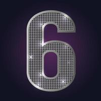 Zahlenblinken 6 vektor