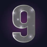 Zahlenblinken 9 vektor