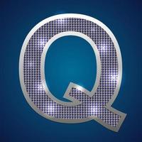 Alphabet blinken q vektor