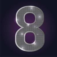 Zahlenblinken 8 vektor