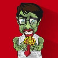 Zombie-Vektor-Illustrationen vektor