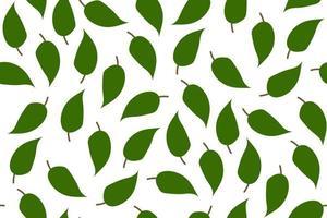 tropischer Hintergrund mit Blättern. Blatt wiederholter Hintergrund. nahtloses Muster der Vektorillustration. modernes exotisches abstraktes Design. vektor