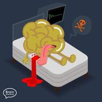 Gehirn versuchte Illustration vektor