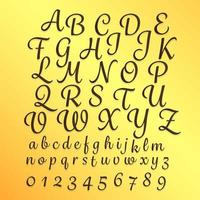 Alphabet Handschrift Stil Illustrationen az vektor