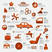 Service-Symbol für Infografik-Autos vektor