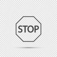 stoppskylt ikoner på transparent bakgrund vektor