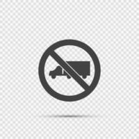 Keine LKW-Zeichen auf transparentem Hintergrund vektor