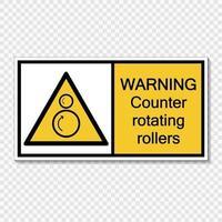 Symbol Warnzähler rotierende Rollen Zeichenetikett auf transparentem Hintergrund vektor