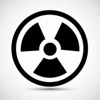 Strahlung traditionelle Gefahr schwarze Ikone lokalisiert auf weißem Hintergrund vektor