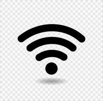 wifi-ikon, trådlöst internetisolat på transparent bakgrund, vektorillustration vektor