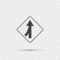 Spuren, die linkes Zeichen auf transparentem Hintergrund zusammenführen vektor