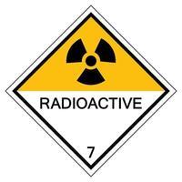 Warnung radioaktives Symbolzeichen isolieren auf weißem Hintergrund, Vektorillustration eps.10 vektor