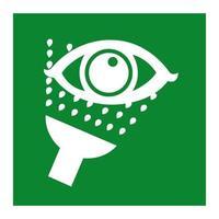 Notfall-Augenwaschsymbolzeichen-Isolat auf weißem Hintergrund, Vektorillustration eps.10 vektor
