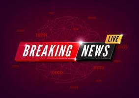Aktuelle Nachrichten live auf rotem Hintergrund. vektor
