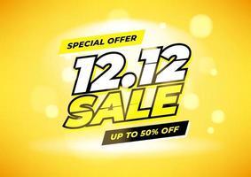 Sonderangebot 12.12 Einkaufstag Verkauf Poster oder Flyer Design. 12.12 Online-Verkauf. vektor