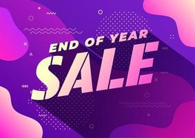 slutet av året försäljning banner. försäljning banner mall design. vektor