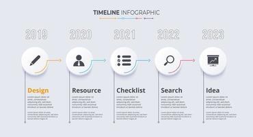 Vorlage für Zeitleisten-Infografiken. Meilenstein- oder Prozessdiagrammkonzept. vektor