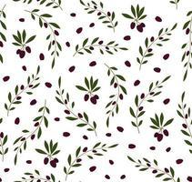 nahtloses Vektormuster mit Olivenbaumzweigen. olivgrüner Hintergrund. Perfekt für Tapeten, Hintergründe, Textilien oder Geschenkpapier. vektor