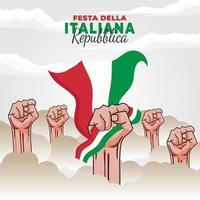 Tag der Republik Italien Poster vektor