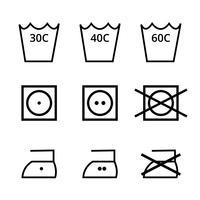 Tvätt Symbol Vector Pack