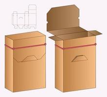 webbbox förpackning stansad mall design. 3d mock-up vektor