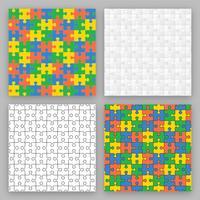Puzzle-Vektor-Muster vektor