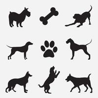hund vektor silhuett