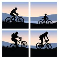 Mountain Cycling Vector Pack