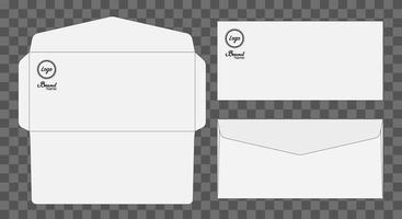 kuvert stansad mock up mall vektorillustration. vektor