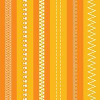 Free Fashion Design Pinsel: Reißverschlüsse und Nähte vektor
