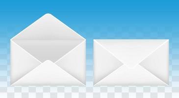 öppna och stäng e-post kuvert ikon vektor