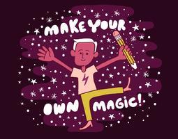 Mache einen eigenen Zauberkünstler vektor