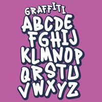 Handgjord Street Style Graffiti Font vektor