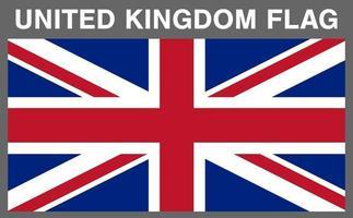echtes Vereinigtes Königreich England Flaggenvektor eps10 vektor