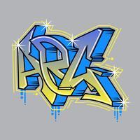 Schöne Graffiti-Alphabet-Vektoren vektor