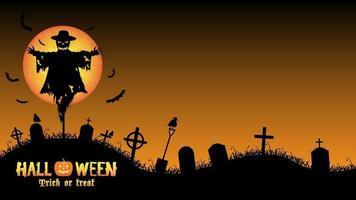 halloween kyrkogård bakgrundsvektor vektor