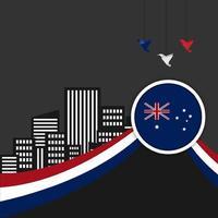 glad australien dag 26 januari formgivningsmall. självständighetsdag vektor