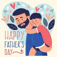 Vaters Liebe zu seinem Sohn vektor