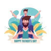 glädje vid glada fäder dag firande vektor
